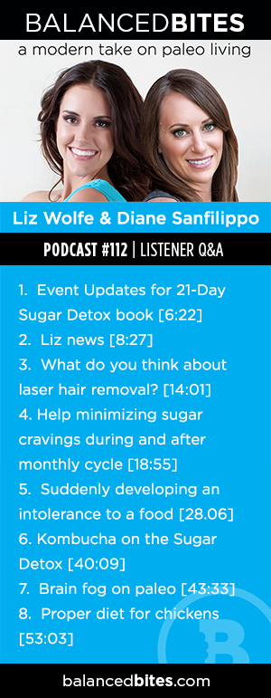 Balanced Bites Podcast Episode 112 | Listener Q&A | Laser Hair Removal, Monthly Sugar Cravings & Brain Fog