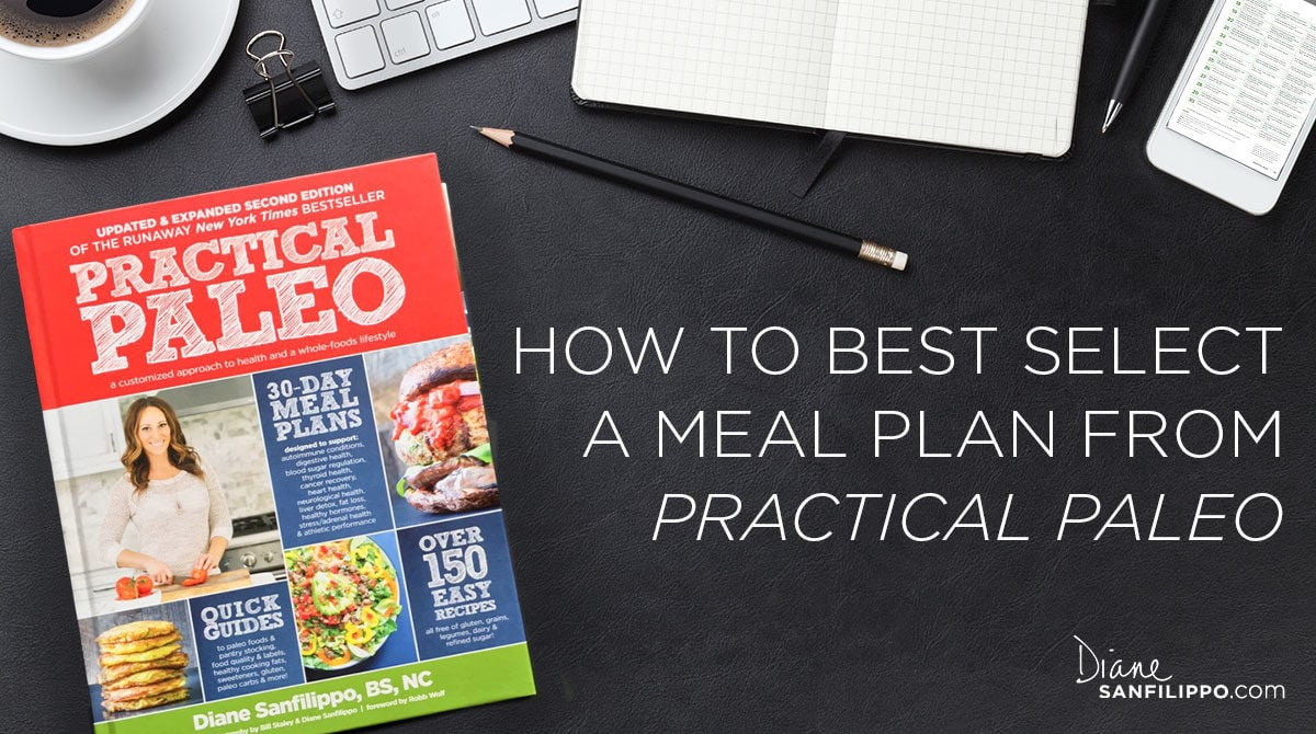 Selecting a Meal Plan from Practical Paleo | Diane Sanfilippo